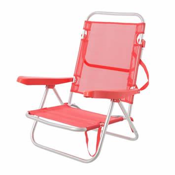 LOLAhome Naranja Garden silla de playa aluminio