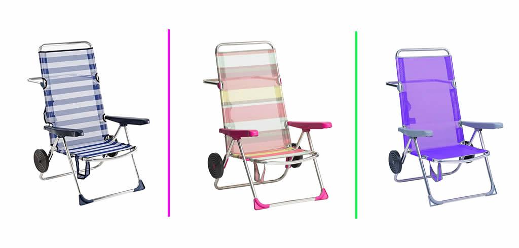 venta de sillas de playa con ruedas