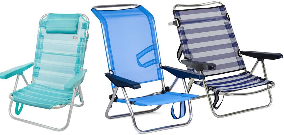 sillas de playa bajas