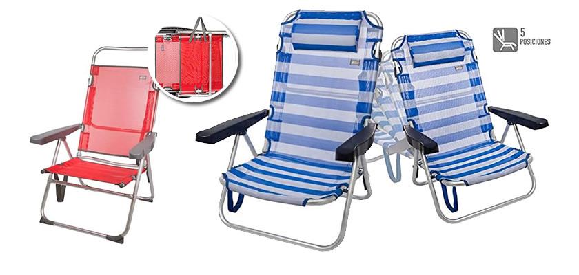 sillas de playa reforzadas